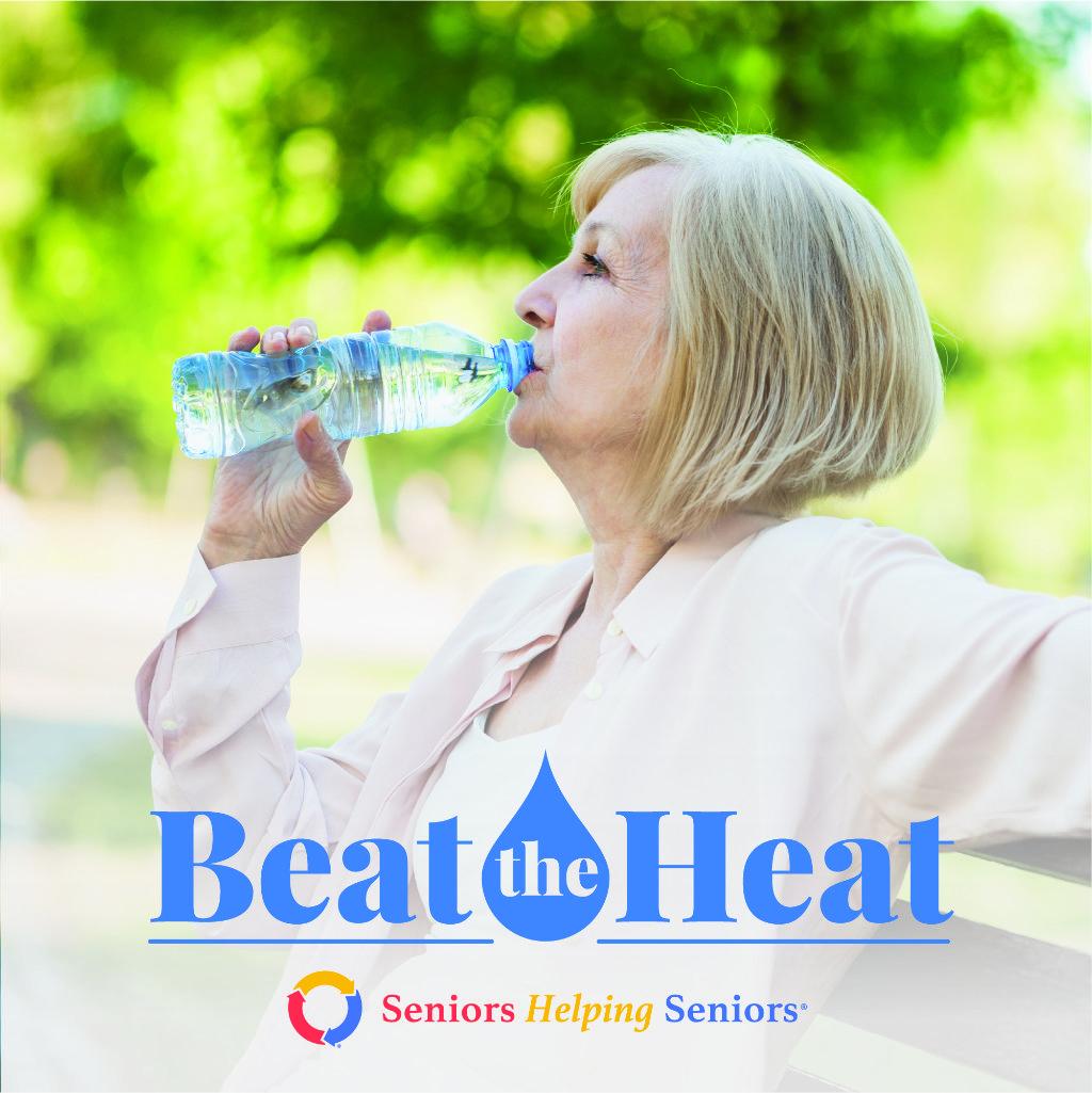 Beat the Heat in Broward County, FL - Senior drinking water outdoors